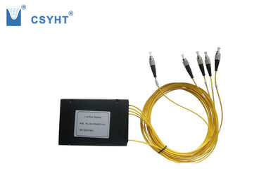 Environmental Stable PLC Fiber Optic Splitter Low Polarization Dependent Loss