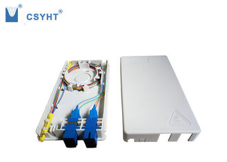 4 fiber plastic FTTH box for indoor wall mounted in FTTX project